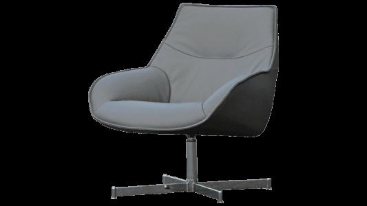 Fauteuil-thomas-kebe-stoel-zetel-salon-stof-leder-grijs-zwart-1