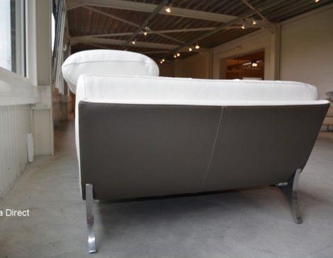 Lederen salons kleur wit met grijze achterkant