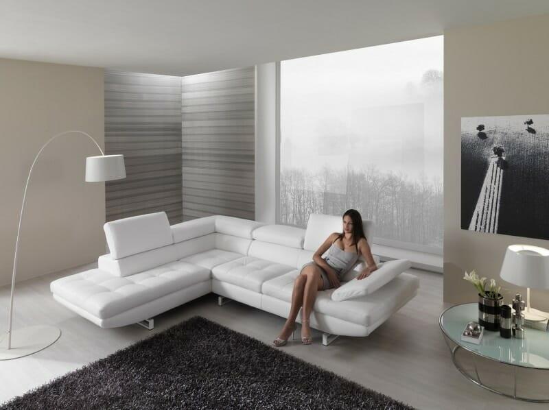 Beautiful Divano Pelle Bianca Gallery - Brentwoodseasidecabins.com ...